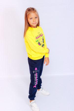 Костюм для девочки желтый - 86 см