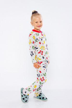 Пижама для девочки с бабочками - 92 см
