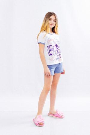 Комплект спальный для девочки (подростковый) (футболка+шорты)