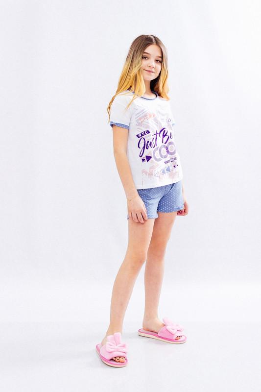 Комплект спальний для дівчинки (підлітковий) (футболка + шорти)