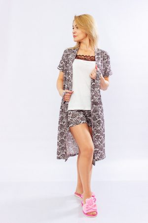Комплект жіночий (халат + топ + шорти)