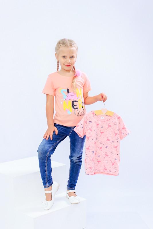Комплект футболок для девочки (2 шт)