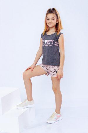 Комплект для девочки с шортами - 134 см