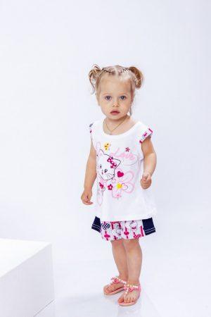 Комплект ясельный для девочки (блуза+шорты)