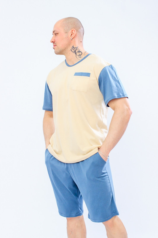 Пижама мужская (футболка+шорты)