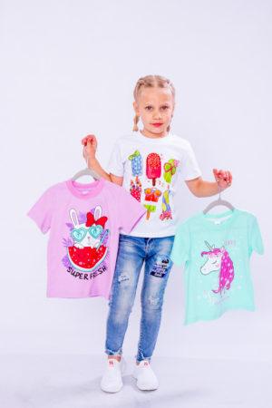 Набір футболок для дівчинки (3шт.)