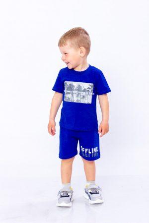 Комплект для мальчика (футболка + шорты) - 110 см
