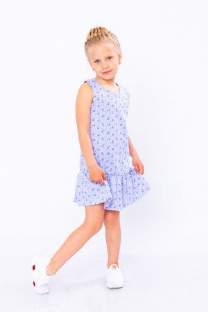 Платье для девочки с рюшей - 128 см
