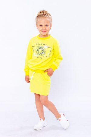 Комплект для девочки (джемпер+юбка)