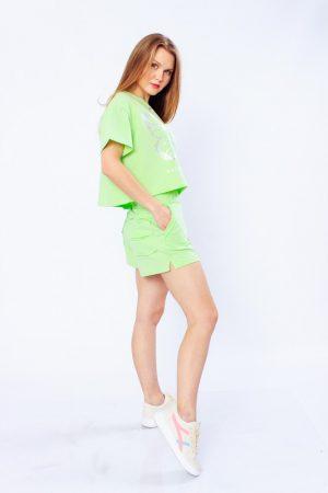 Комплект женский (футболка+шорты)