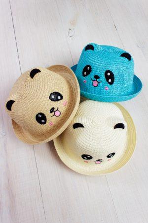 "Шляпа детская с ушками ""Панда"""