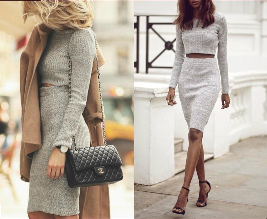 Модные трикотажные юбки: фасон, цвет и сочетание с другими вещами