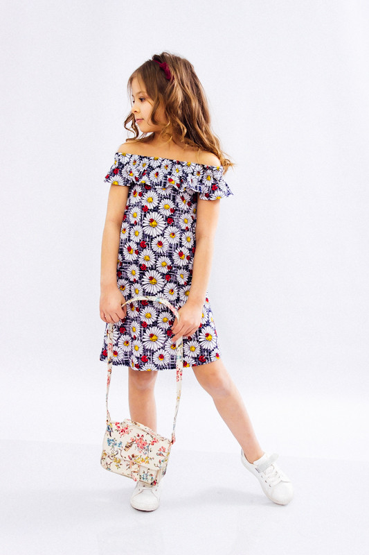 Платье для девочки с рюшей
