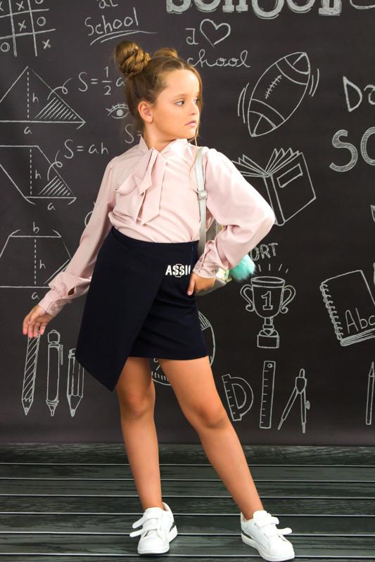 Юбка школьная с запахом
