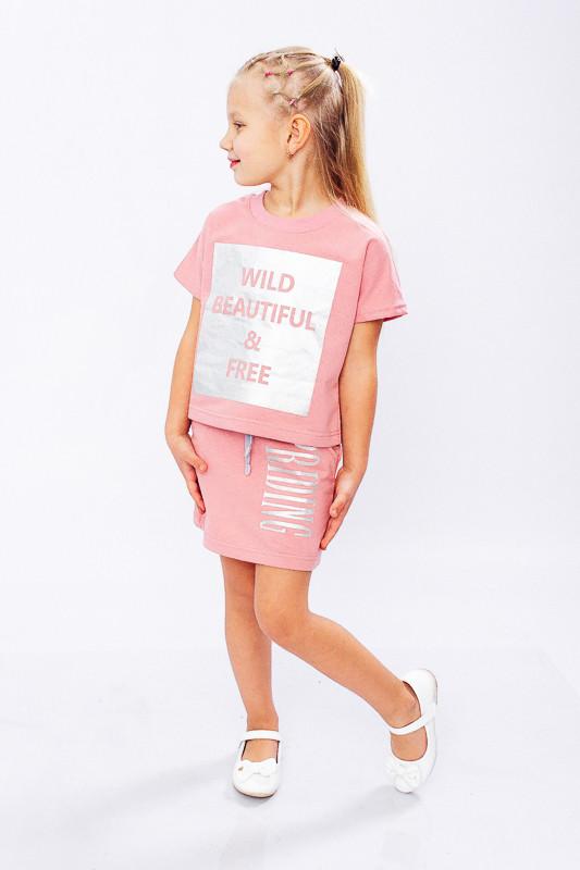 Комплект для девочки (футболка+юбка)