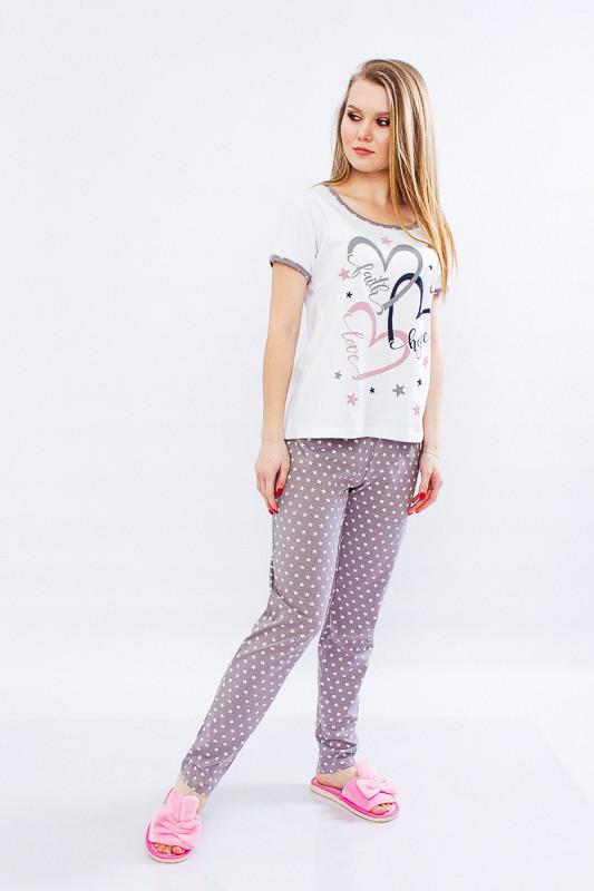 Пижама женская (брюки+футболка) - 42 р
