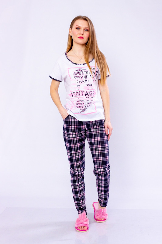 Пижама женская (футболка+брюки)