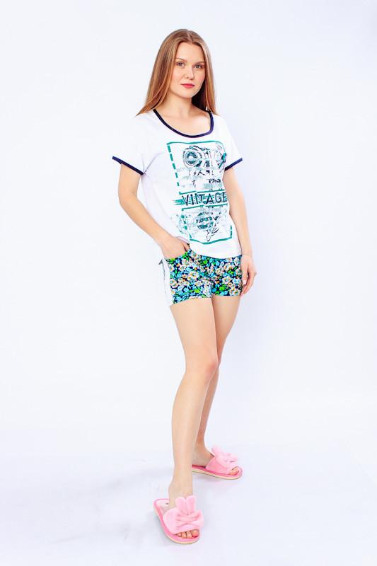 Піжама жіноча (футболка + шорти)