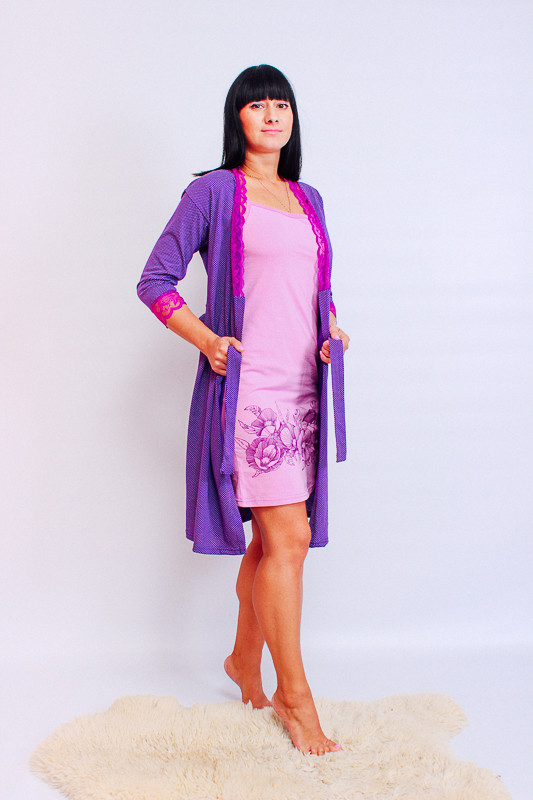 Комплект жіночий (халат + сорочка)