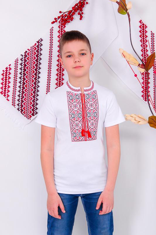 Вышиванка подростковая с кор. рукавом