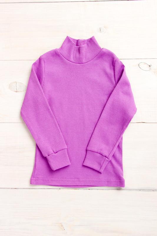 Водолазка фиолетовая- рубчик  - 86 см