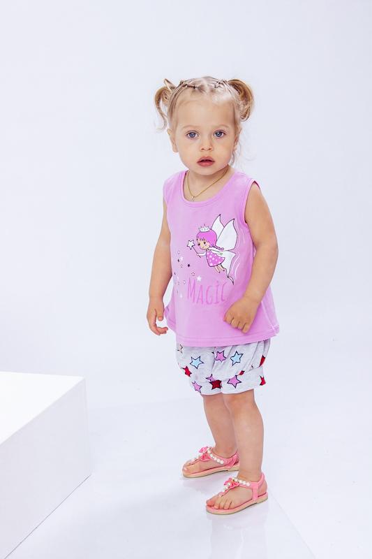 Комплект ясельный для девочки (блуза+шорты) 5056-002-33