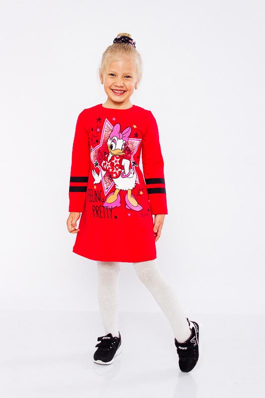 Платье для девочки с длинным рукавом - демисезон - 92 см