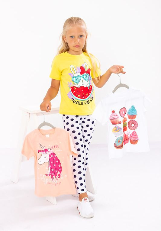 Набор футболок для девочки (3шт.) 6021-001-33-7