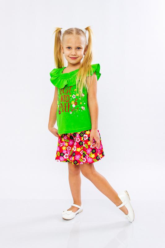 Комплект для девочки (блуза+юбка-шорты) 6028-002-33