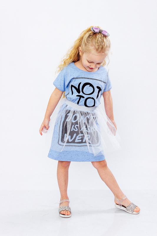 Платье для девочки с фатиновой юбкой 6030-070-33