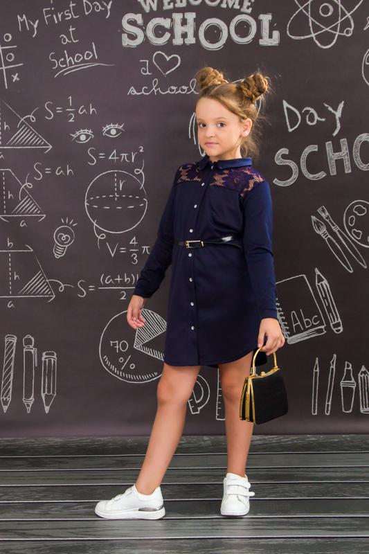 Платье-рубашка для девочки 6049-065