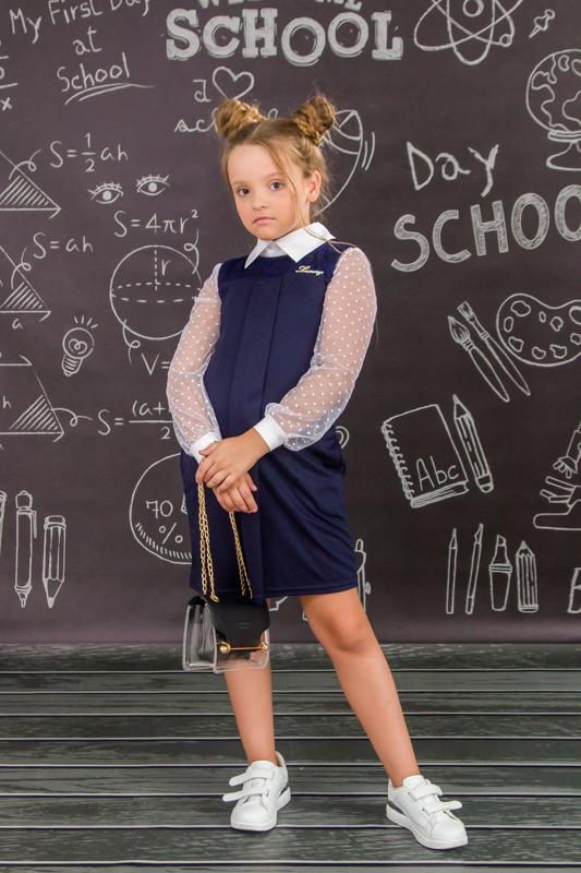Сарафан школьный для девочки 6051-065