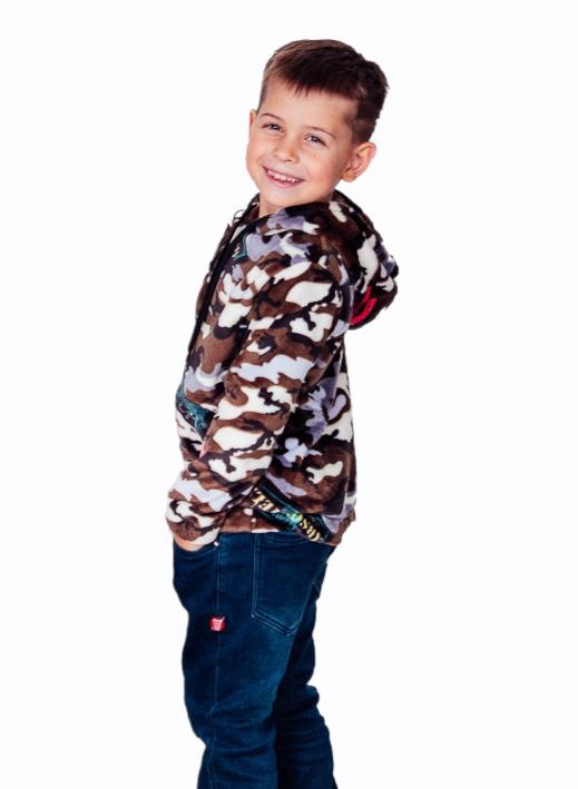 Джемпер детский на молнии 6071-035-4