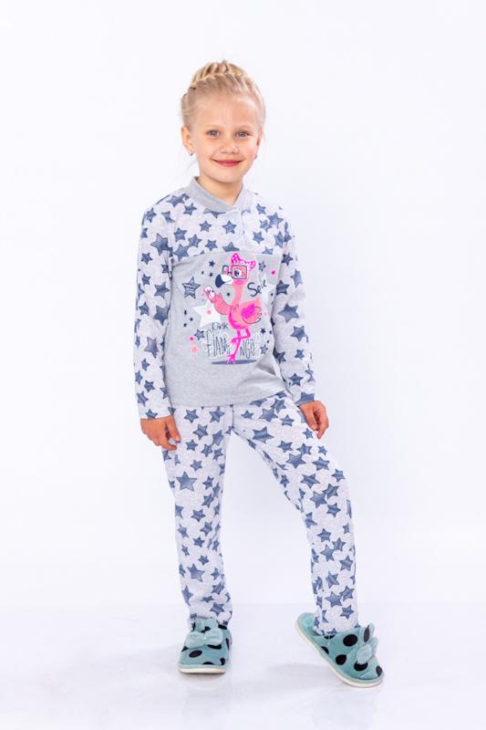 Пижама для девочки на 2 кнопках 6077-002-33-5
