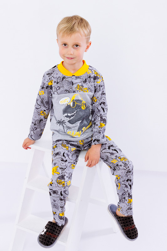 Пижама для мальчика на 2 кнопках 6077-002-33-4