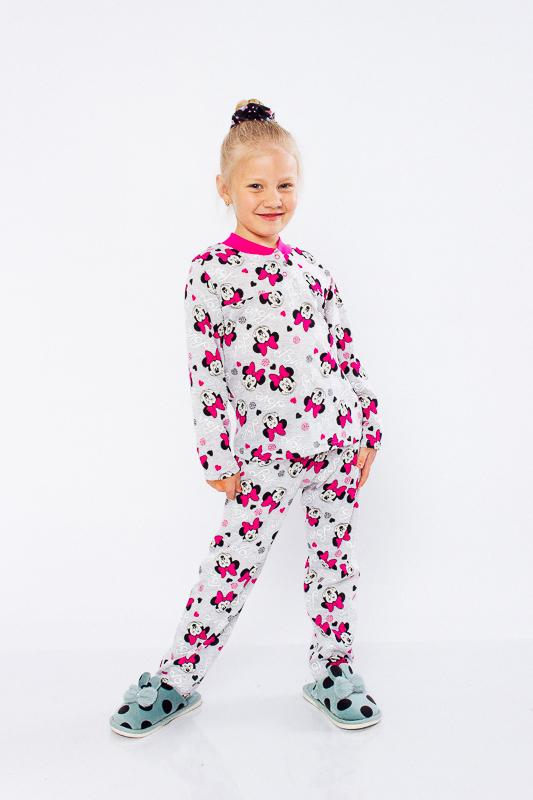Пижама для девочки на 2 кнопках 6077-002-5