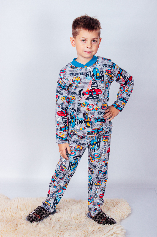 Пижама для мальчика на кнопке 6077-024-4