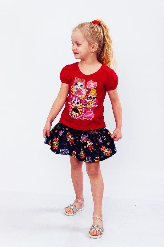 Комплект для девочки (юбка+футболка) 6106-002-33