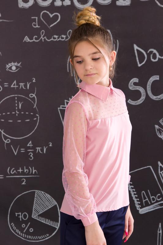 Блуза  с кружевными рукавами 6138-066