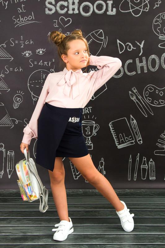 Юбка школьная с запахом 6146-080