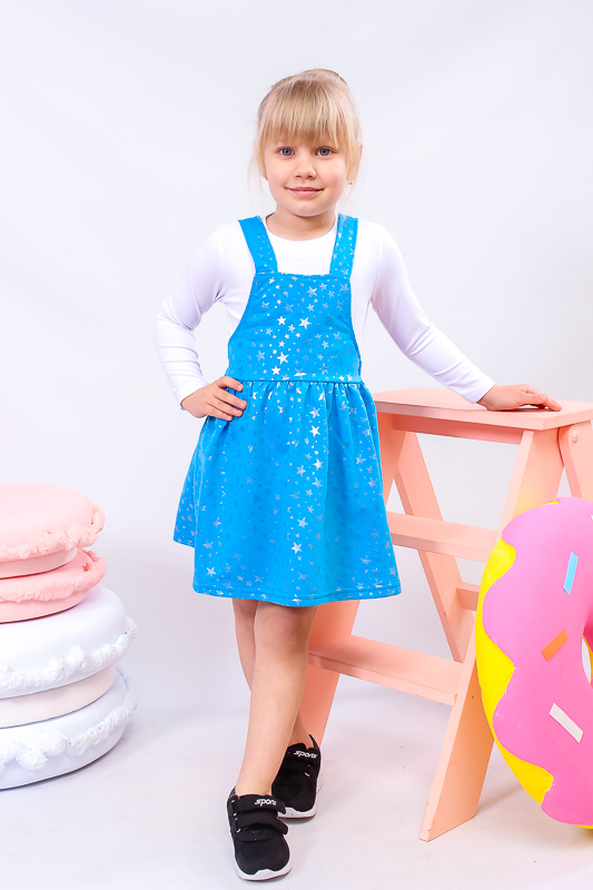 Комплект для девочки (сарафан+джемпер) 6190-055
