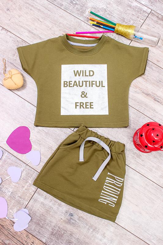 Комплект для девочки (футболка+юбка) 6191-057-33