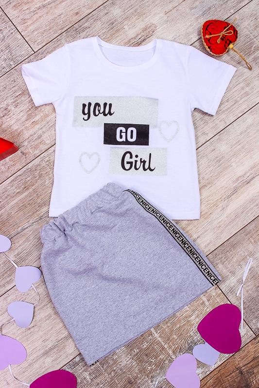 Комплект для девочки (юбка+футболка) 6193-057-33