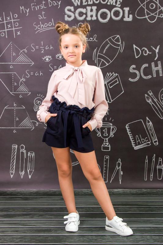 Шорты школьные для девочки 6198-080