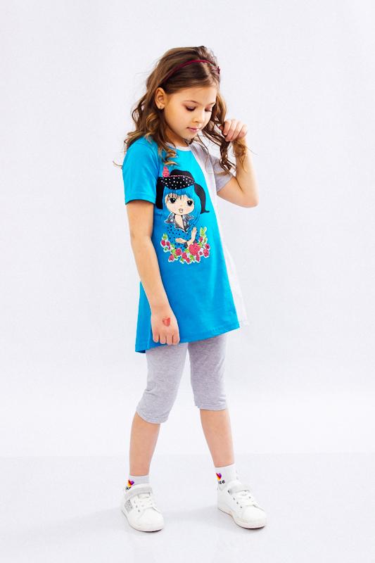 Комплект для девочки (туника+трессы) 6204-001-33