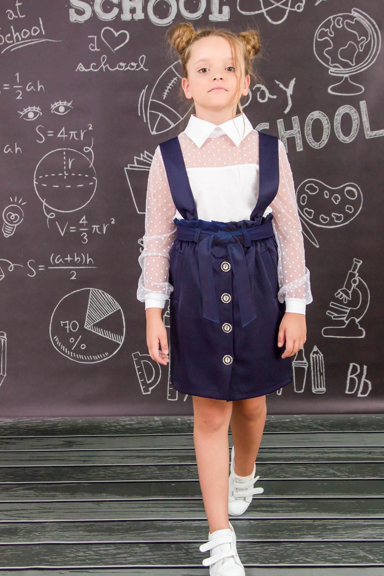 Сарафан школьный для девочки 6218-080
