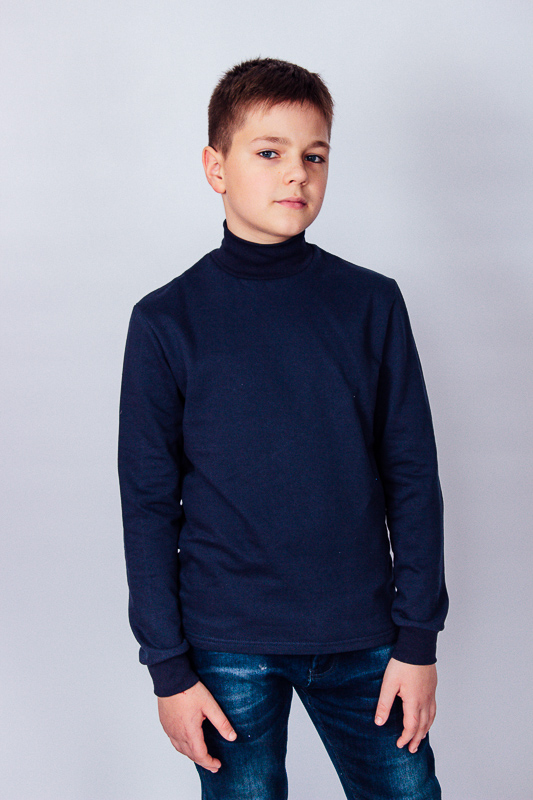 Водолазка для мальчика  на байке - 146, 158, 164  см