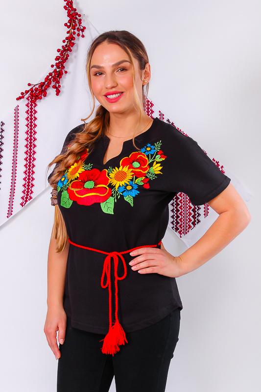 Вышиванка женская с поясом 8029-015-22