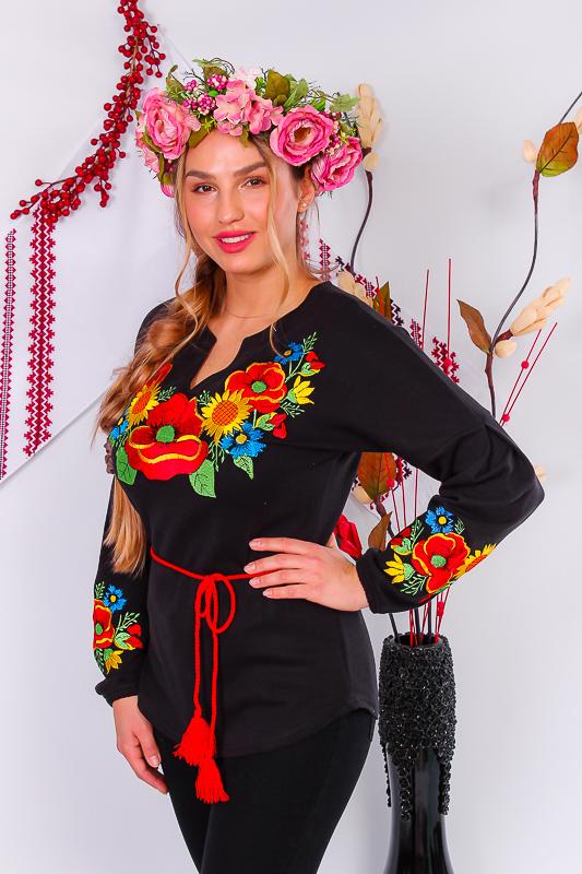 Вышиванка женская с длинным рукавом 8030-015-22