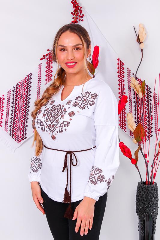 Вышиванка женская с длинным рукавом 8030-038-22-1